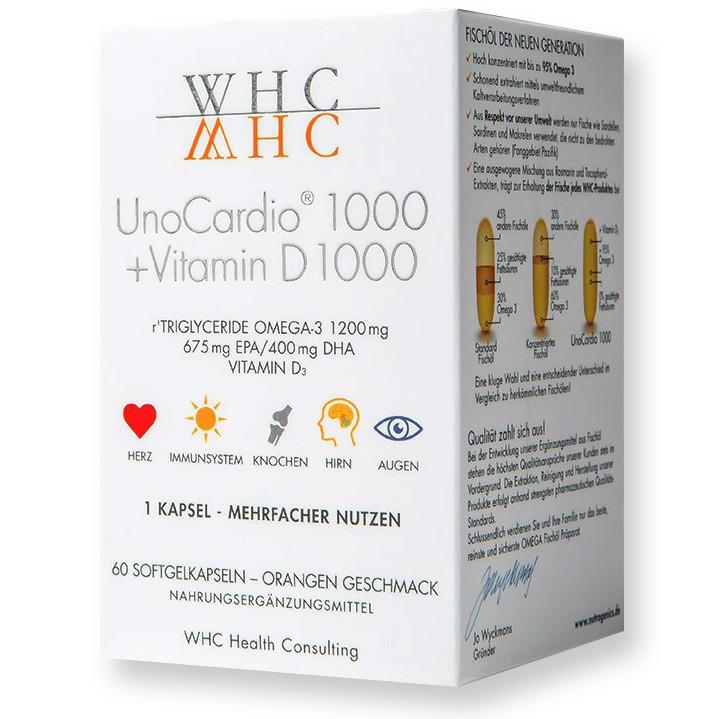 Unocardio 1000 + Vitamin D - Etikett